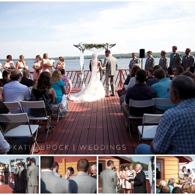 wedding on the deck